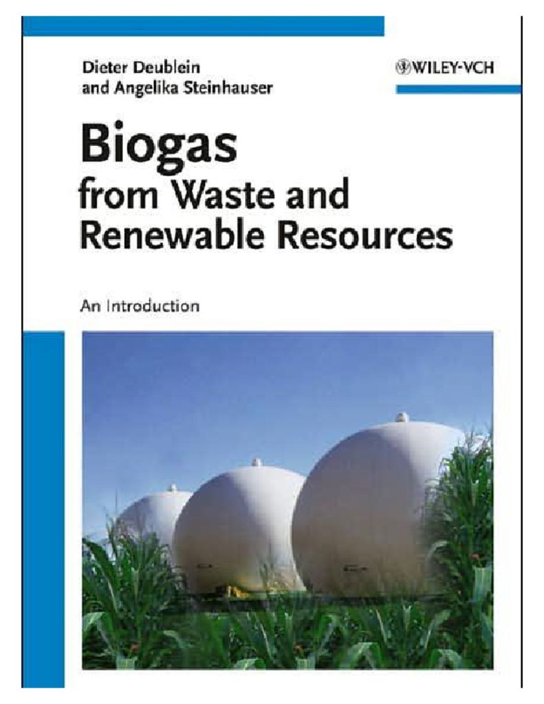 thumbnail of BIOGAS from Waste and Renewable Resources